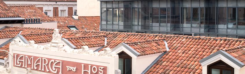 Edificio LAMARCA en Madrid - Puertas Rimadesio Moon