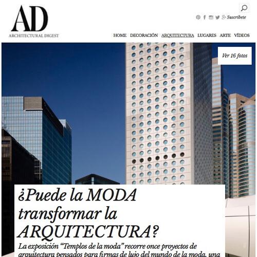 Exposición Evento Arquitectos de la moda ICONNO y JUNG en revista AD