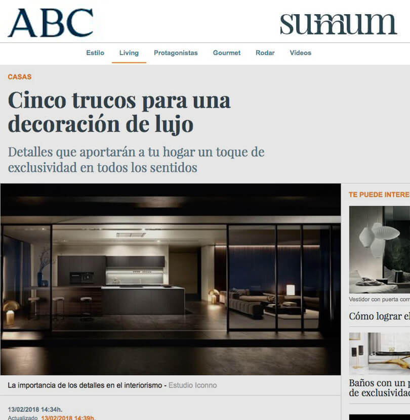 Cinco trucos iconno proyectos interiorismo ABC summun