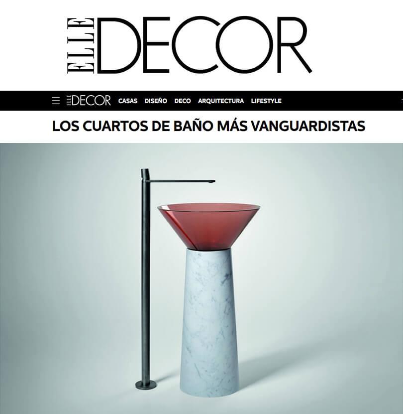 Los Cuartos de baño más Vanguardistas en ELLE Decor (Mayo 2019)
