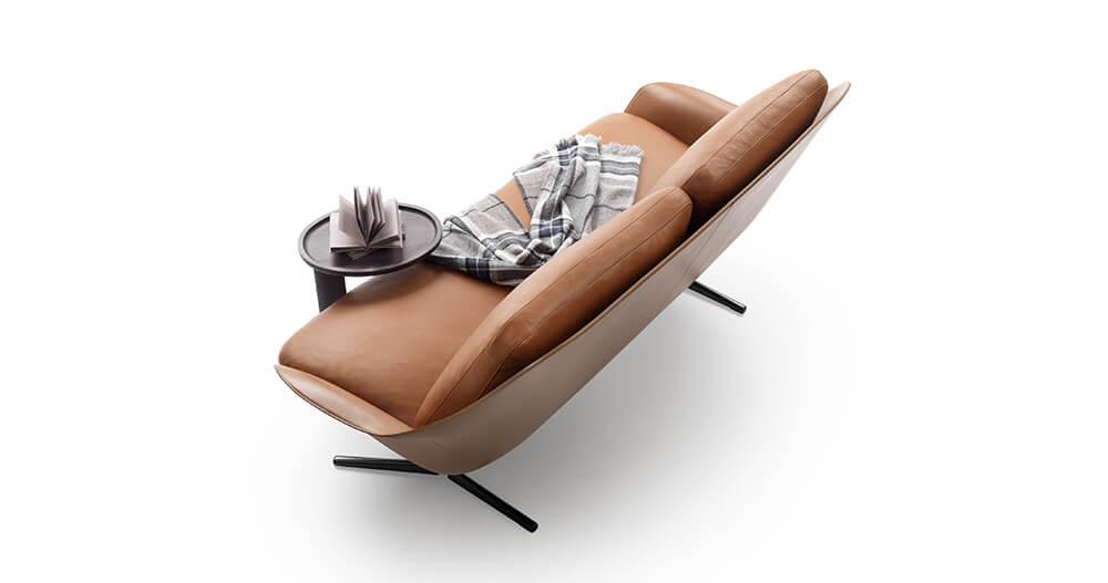 Flexform, El Sofá Sveva se adapta a cualquier espacio