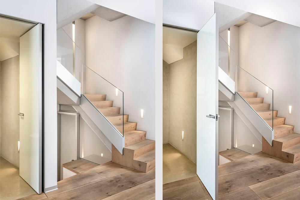 Mobiliario de diseño Rimadesio Puertas correderas opacas de gran superficie Proyecto integral interiorismo los Madroños