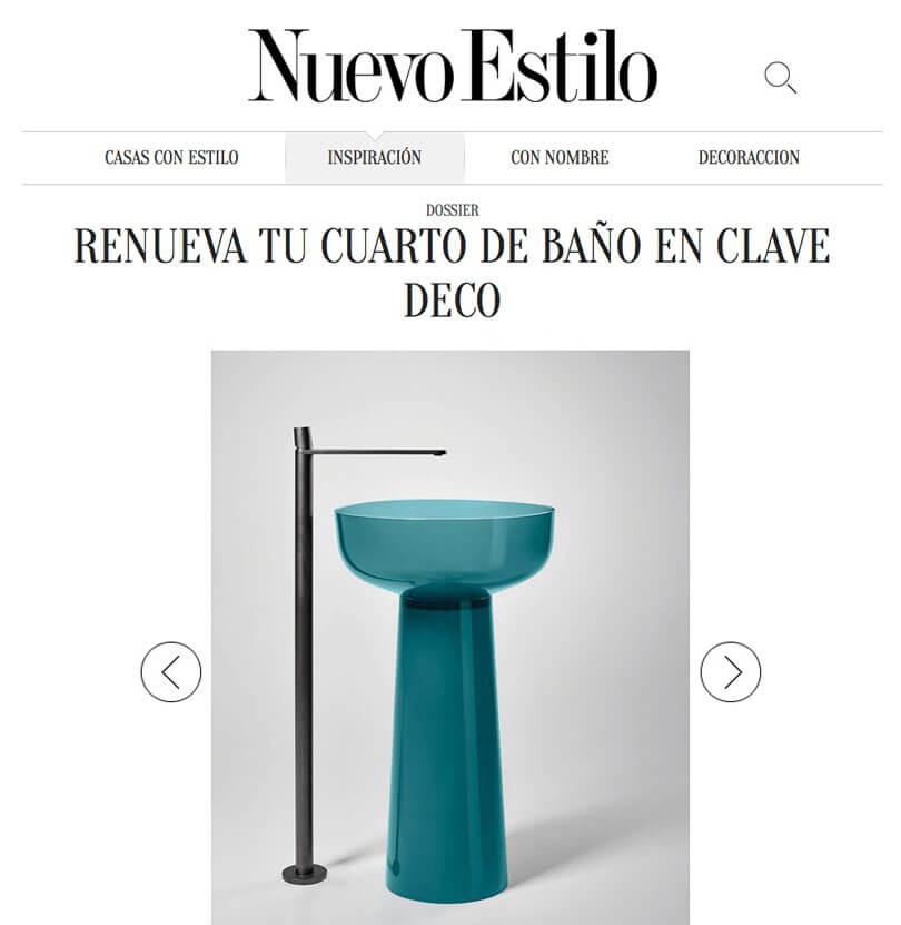 El baño se llena de color con Albumen de Antonio Lupi en Nuevo Estilo (FEBRERO 2019)