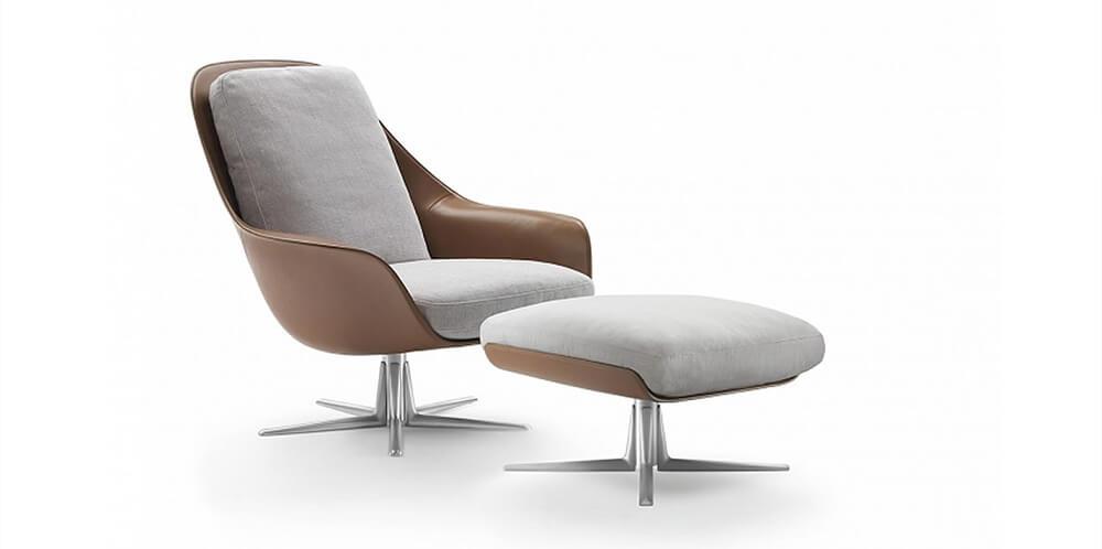 Silla Sveva flexform novedad de diseño de mobiliario