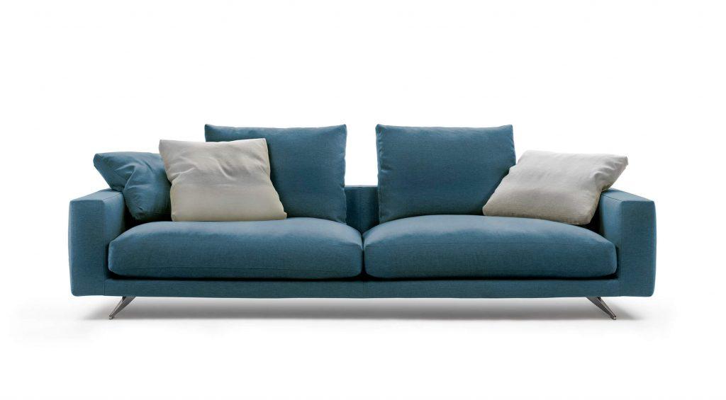 Sofá Campiello azul y gris en ICONNO