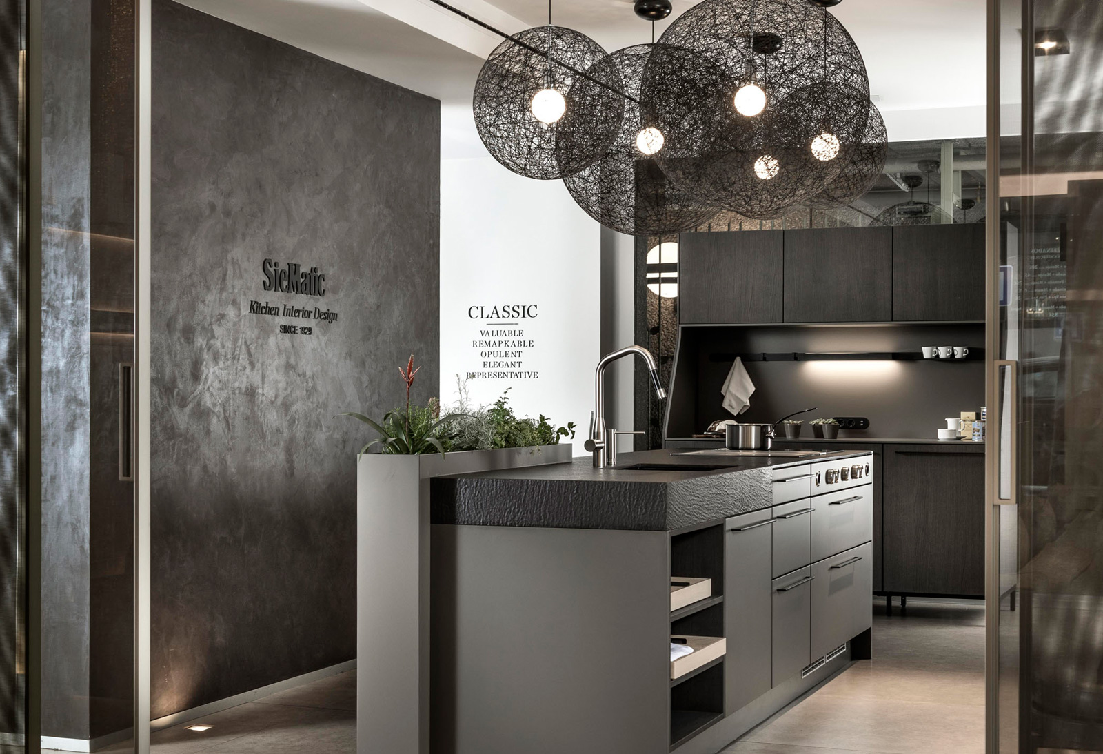 Zona cocinas de lujo SieMatic Showroom Madrid ICONNO