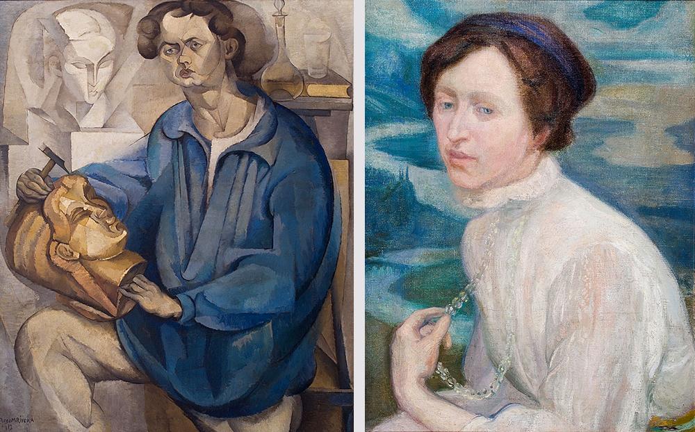 Diego Rivera, retratos que forman parte de la Exposición en la Casa de México en España