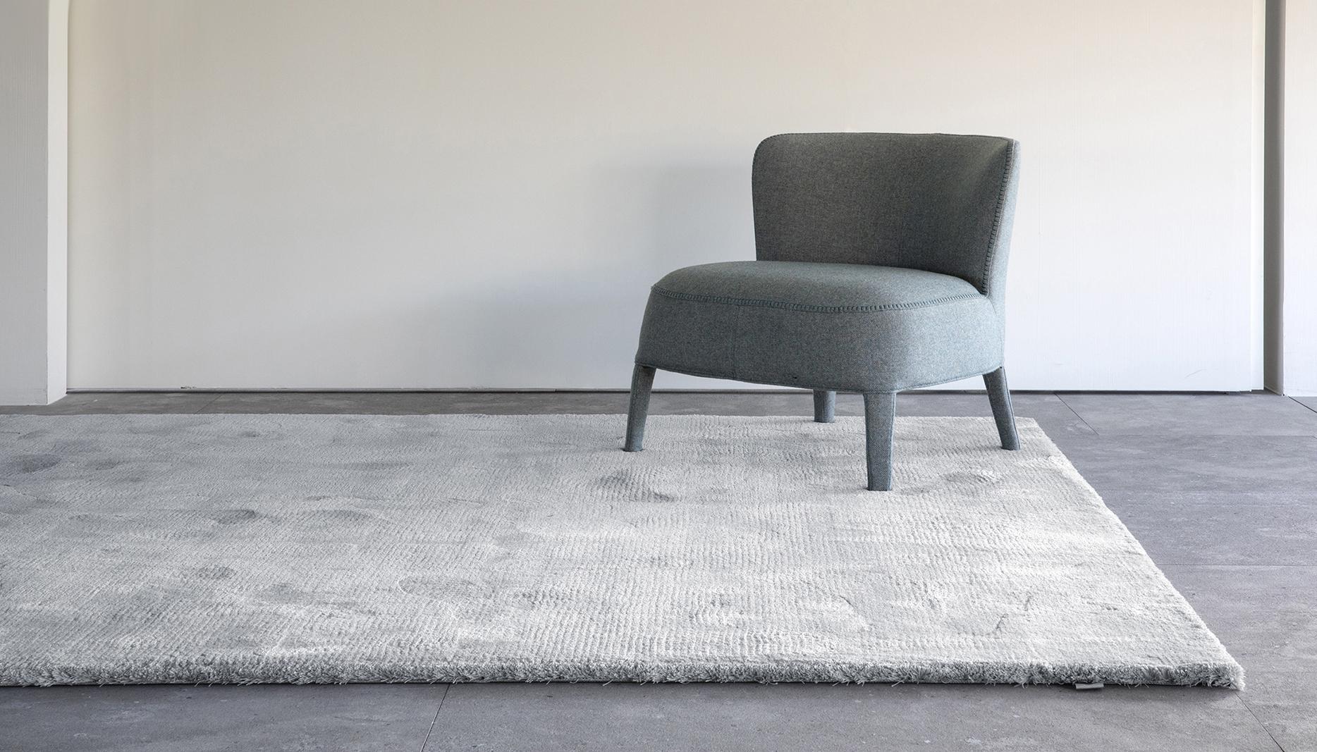 alfombra hecha a mano Diva pure silver de Limited Edition