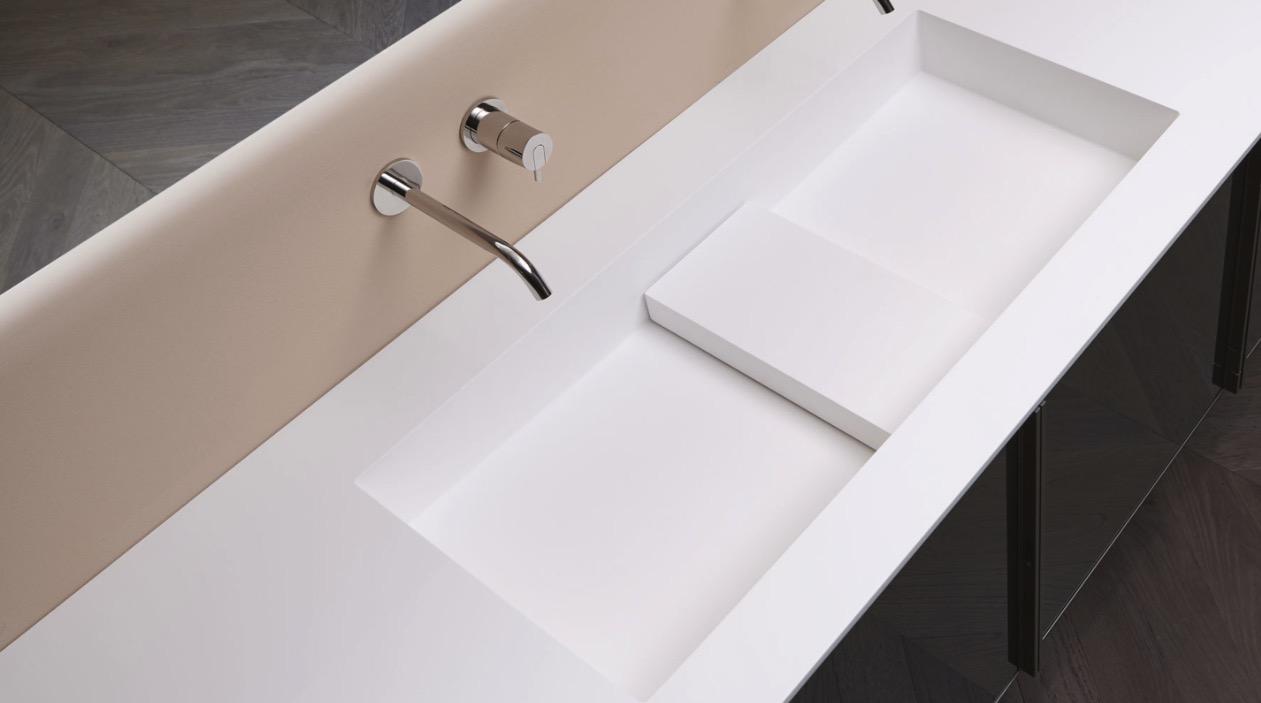encimera para baño podio de antoniolupi
