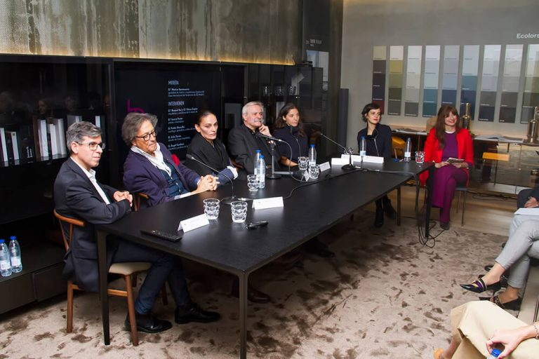Evento exposición Arquitectos de la moda en ICONNO Showroom