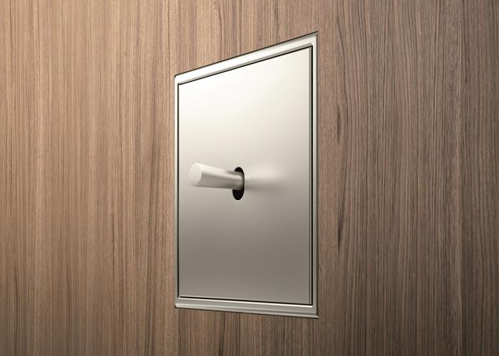 Interruptores de diseño para proyectos integrales de interiorismo LS 1912 Acero Jung