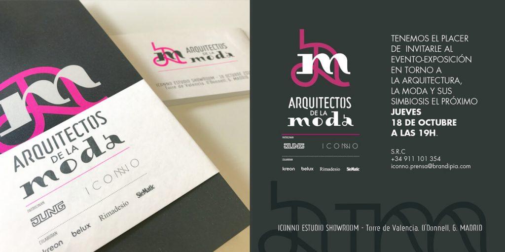 invitación evento arquitectos de la moda ICONNO Jung