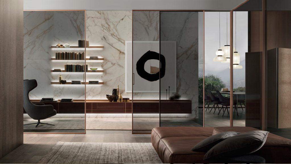 mobiliario de diseño Rimadesio para la zona día