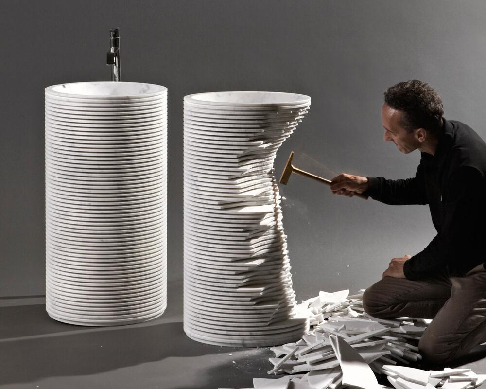 Antonio Lupi introverso lavabo de diseño iconno Madrid
