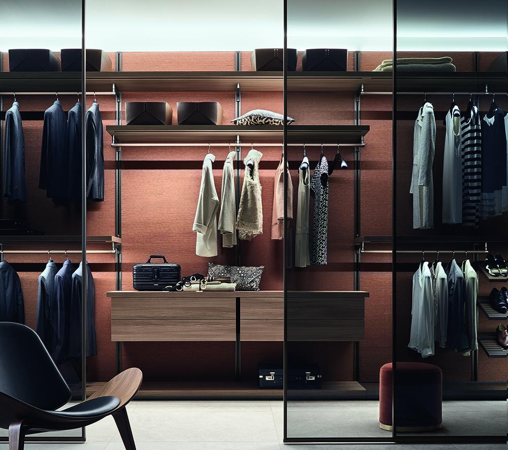 armario vestidor con puertas translucidas Rimadesio