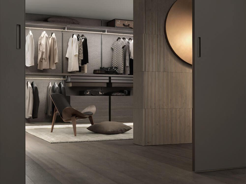 Rimadesio vestidor perfecto con iluminación nautral
