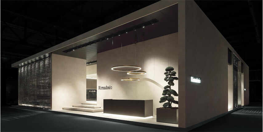 Stand Rimadesio en el salón del mueble de Milan 2017
