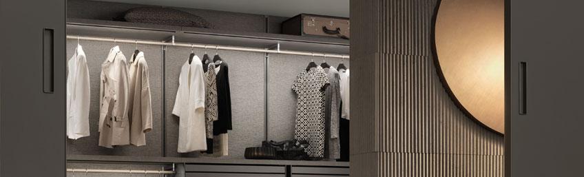 crea el vestidor perfecto cambiando la iluminación - Rimadesio