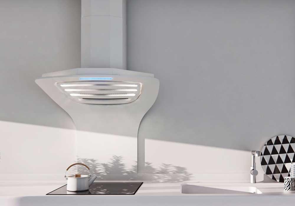 campana extractora de diseño Pando en Corian