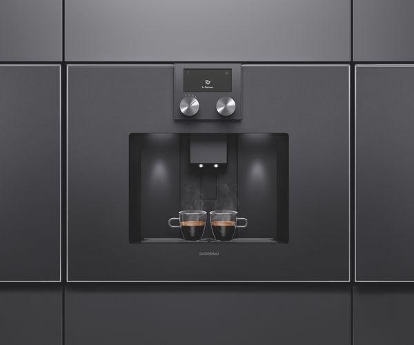 cafetera integrada gaggenau puerta cristal