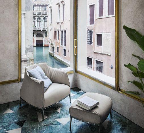 sillón de diseño Archibald de Poltrona Frau