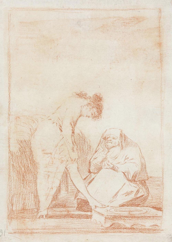 Goya, exposición de Dibujos en el museo del prado Madrid
