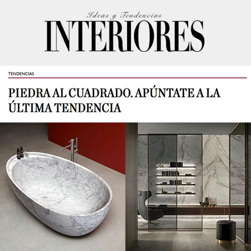 Antonio Lupi y Rimadesio se apuntan a la nueva tendencia, la piedra en interiores (diciembre 2019)