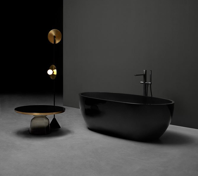 bañera exenta de lujo antoniolupi Reflex Fumé
