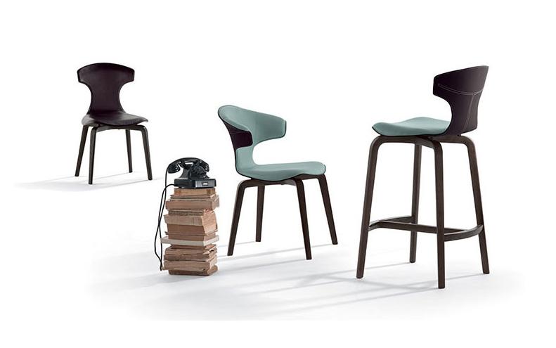 silla de diseño italiano Montera de Poltrona Frau