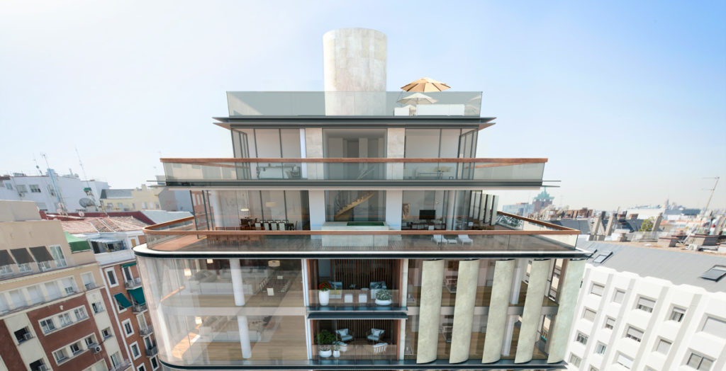 equipamiento viviendas de lujo proyecto contract Lagasca 99