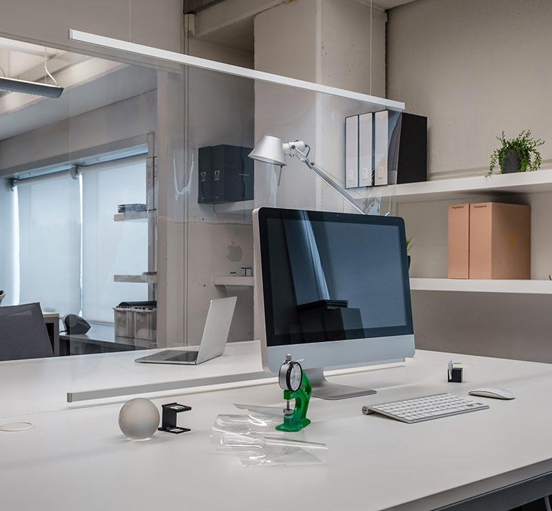 Healthy Shield de Mycore separación y protección en oficinas y negocios