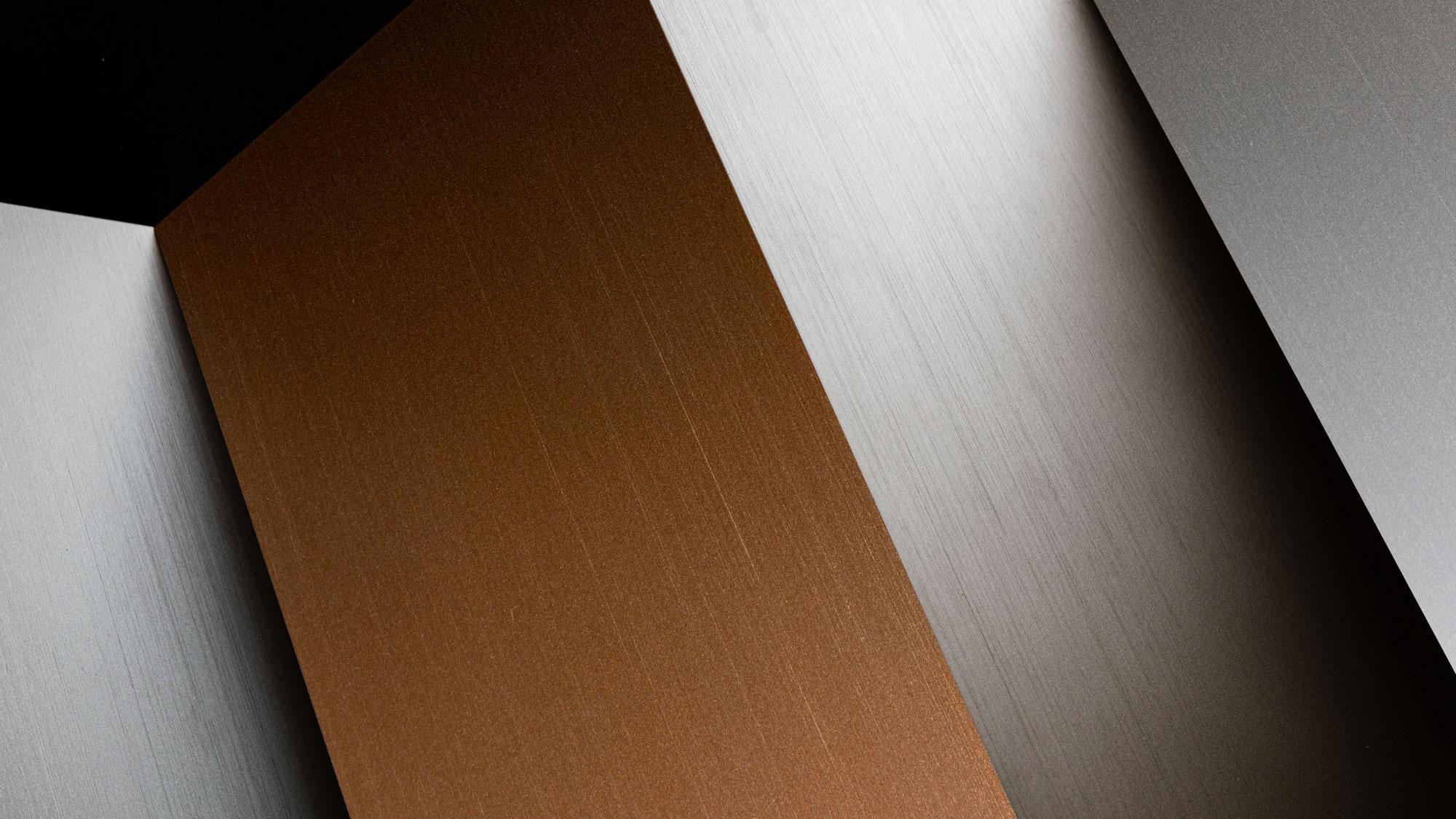 Metal cepillado nuevos acabados Rimadesio