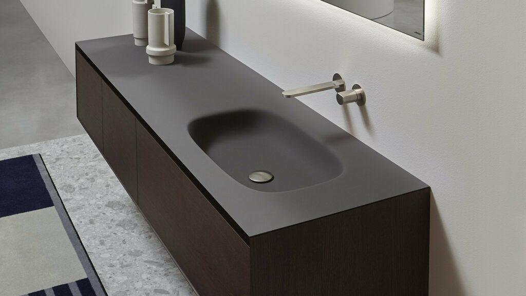 lavabo de diseño colección Basalto en Flumood