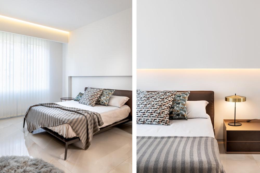 mobiliario diseno flexform lifesteel cama rimadesio self bold mesita proyecto integral interiorismo odonell