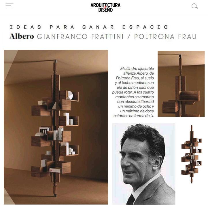 Albero, de POLTRONA FRAU en ICONNO, Arquitectura y Diseño, junio